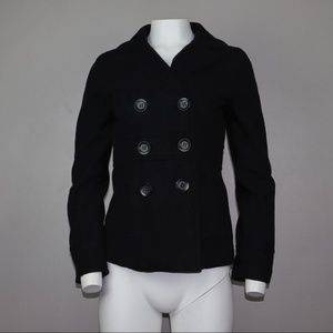 Be Cool Pea Coat Black Size Small